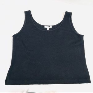 St John black tank top wool blend